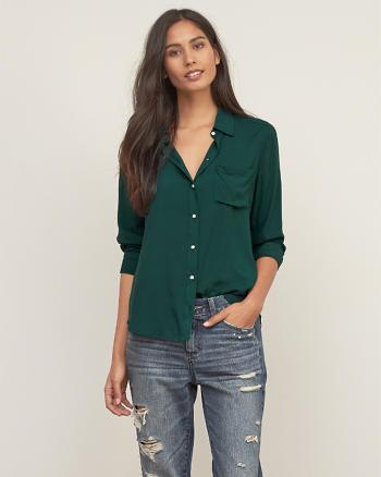 ANF Drapey Rayon Shirt