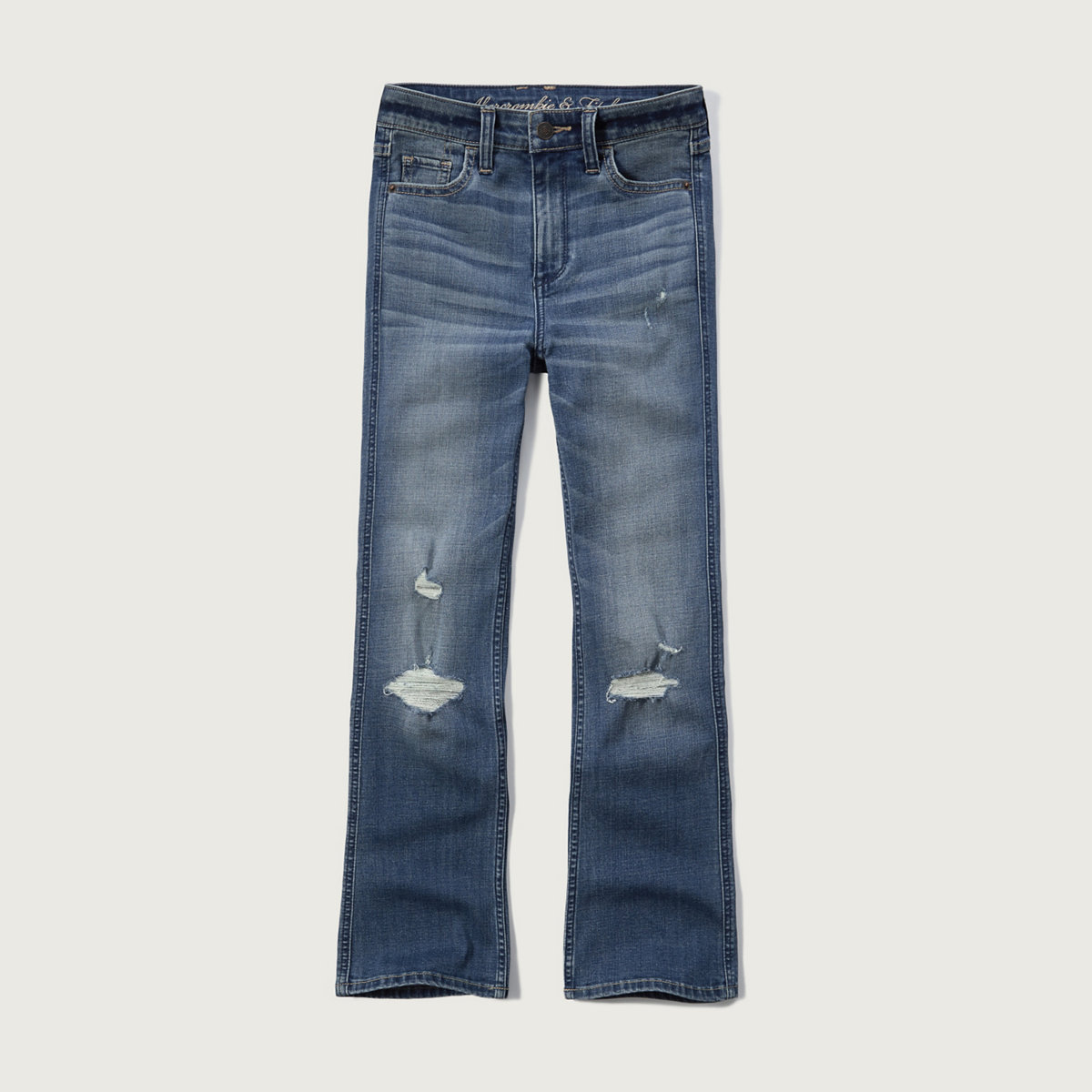High Rise Ankle Flare Jean
