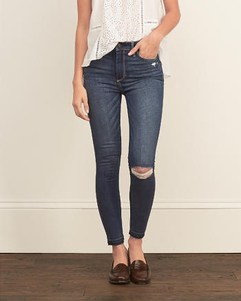 ANF Core Rise Ankle Super Skinny Jeans