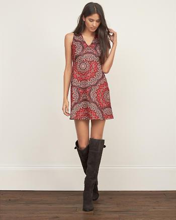 ANF Printed A-Line Dress