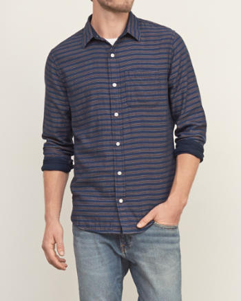 Mens Contrast Stripe Shirt