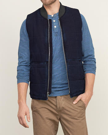 ANF Quilted Puffer Vest
