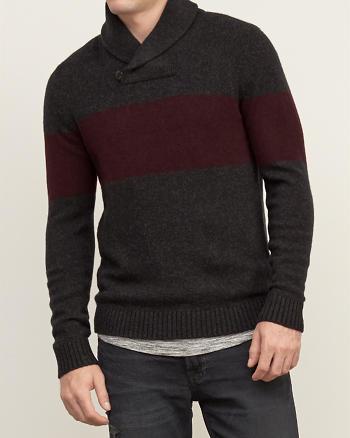 ANF Colorblock Shawl Sweater