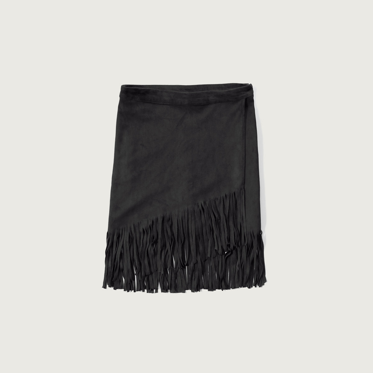 Fringe Faux Suede Skirt