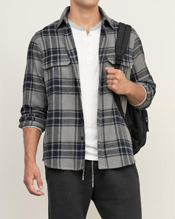ANF Woolrich Plaid Flannel Shirt