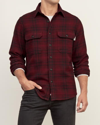 Mens Woolrich Plaid Flannel Shirt