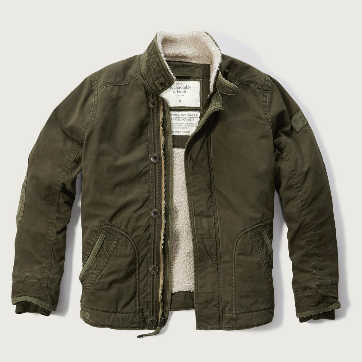 Sherpa-lined Utility Jacket