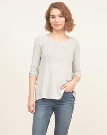 Womens Beaded Knit with Shine