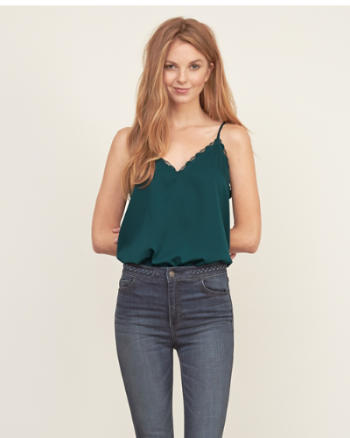 Womens Lace-trim Easy Cami