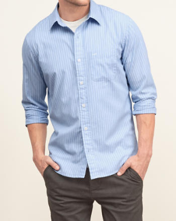 ANF A&F Striped Shirt