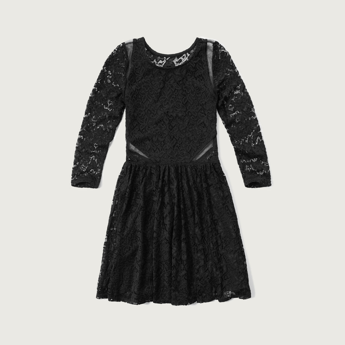 Lace Mesh-trim Dress