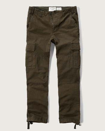 ANF Slim Straight Cargo Chino Pants