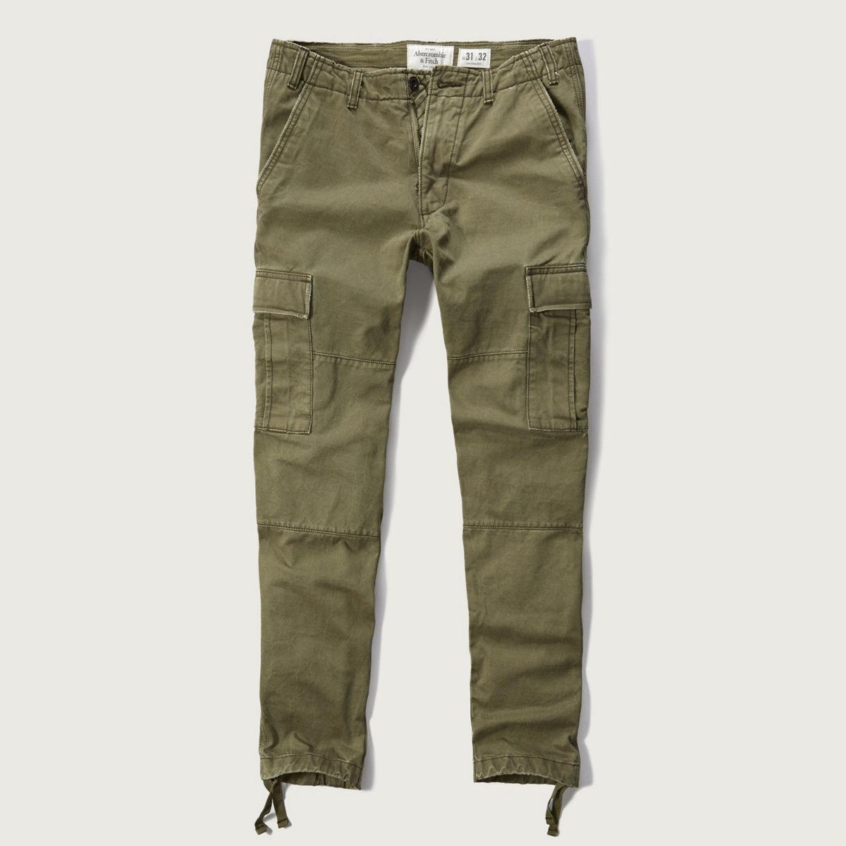 Slim Straight Cargo Chino Pants