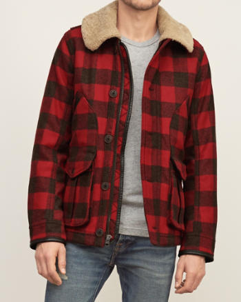 ANF Sherpa-collar Wool Jacket