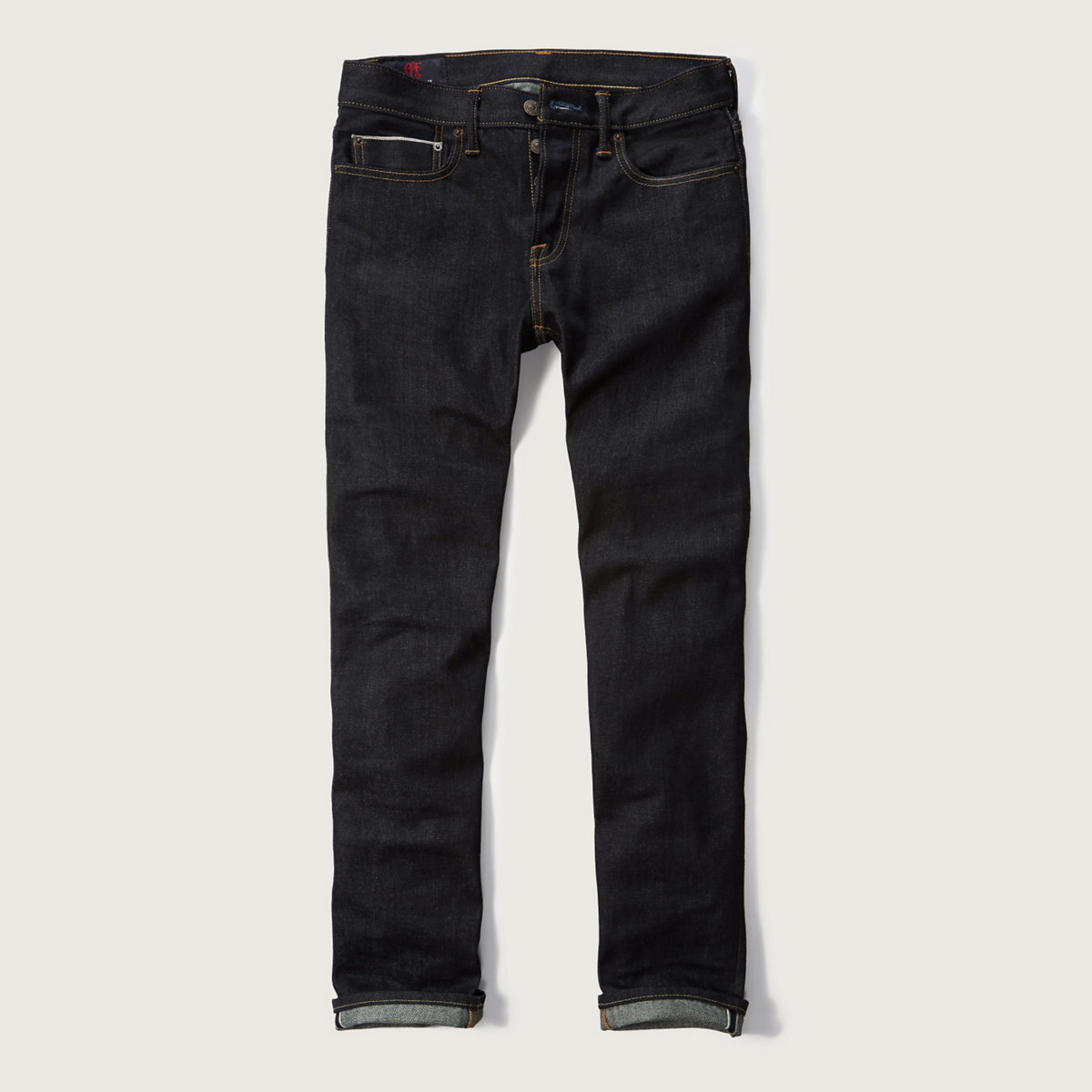 Selvedge Straight Raw Jeans