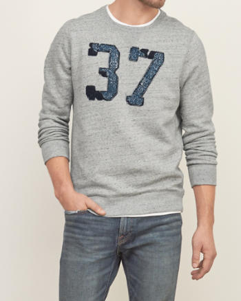 Mens Applique Graphic Sweatshirt