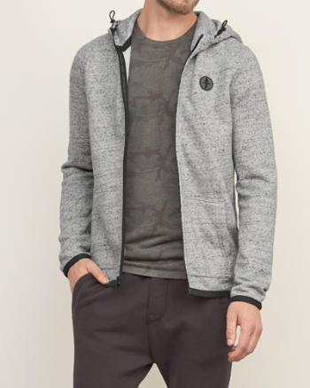 Mens Full Zip Fleece Hoodie