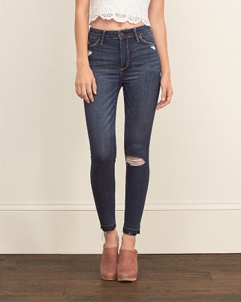 ANF High Rise Ankle Super Skinny Jeans