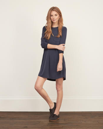 Womens Drapey Pocket Dress