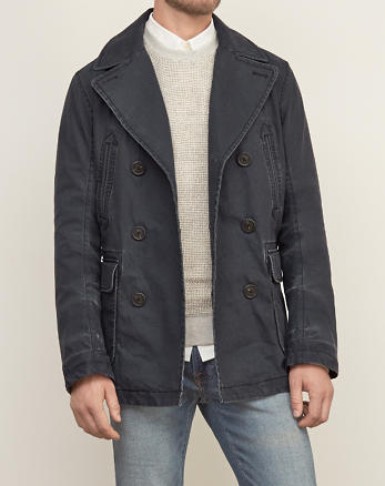 ANF Classic Twill Peacoat