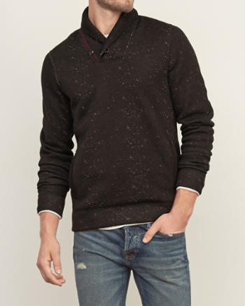 Mens Shawl Fleece Sweatshirt