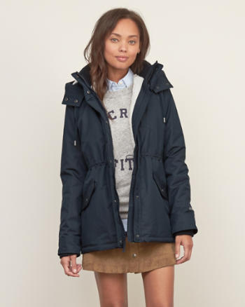 Womens A&F All-Season Sherpa Weather Warrior Parka
