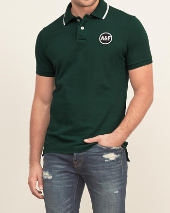 ANF Embroidered Logo Polo