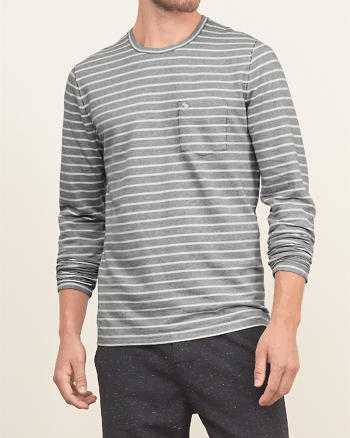 ANF Stripe Knit Tee