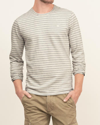 Mens Stripe Knit Tee