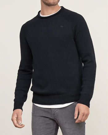 ANF Iconic Rib-trim Sweater