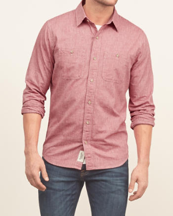 Mens Washed Chambray Shirt
