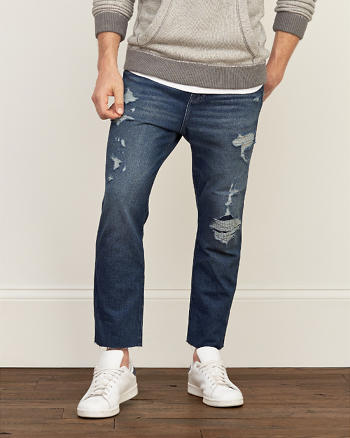 ANF Slim Straight Crop Jeans