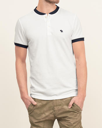ANF Iconic Contrast Henley