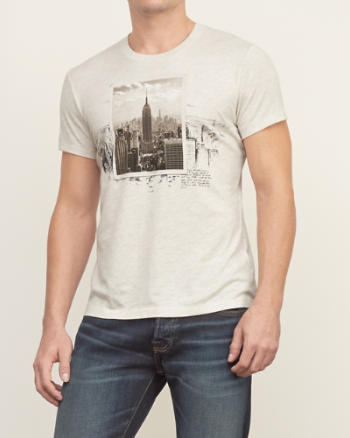 Mens Retro City Graphic Tee