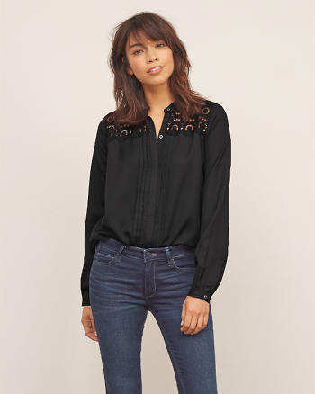 ANF Lace Panel Shirt