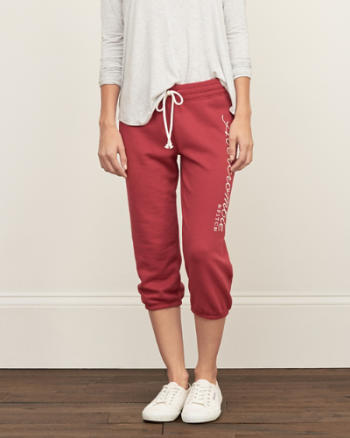 Womens A&F Banded Crop Sweatpants