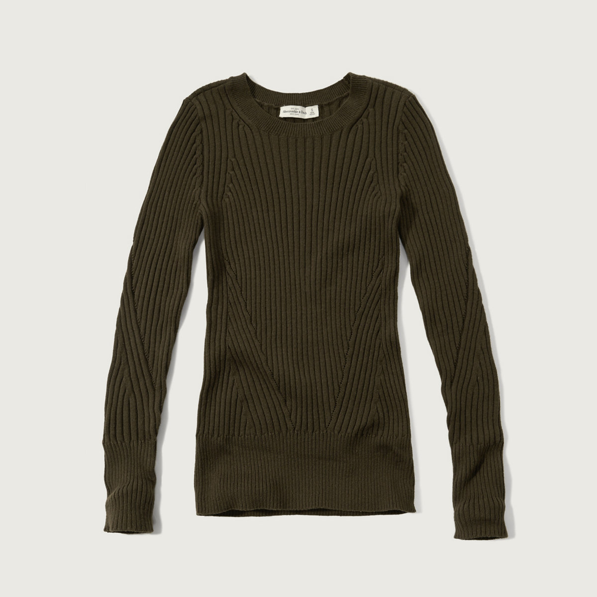 Slim Ribbed Crew Sweater