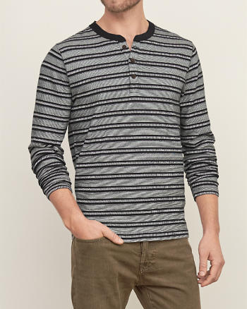 ANF Stripe Knit Henley