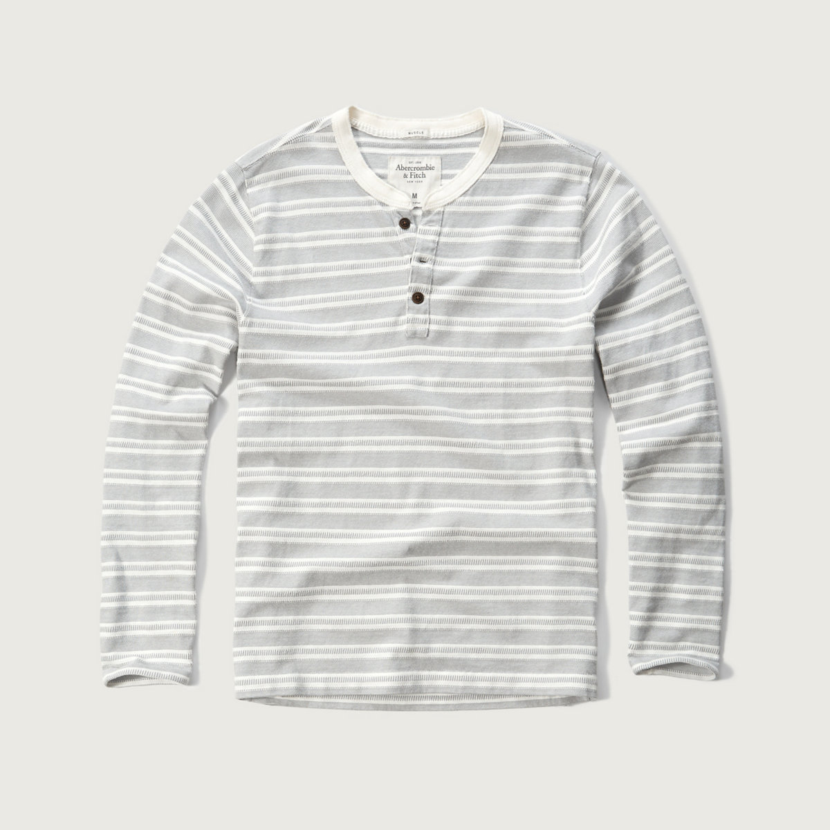 Stripe Knit Henley