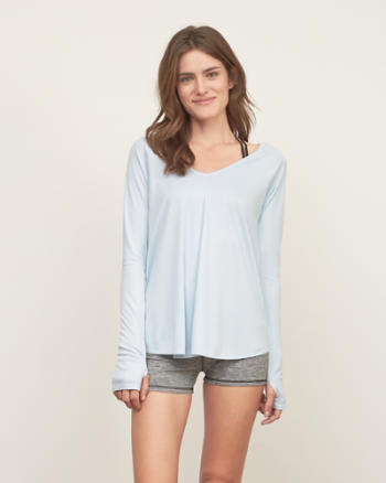 Womens Easy Wrap Back Tee