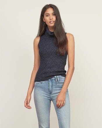 ANF Sleeveless Turtleneck Sweater