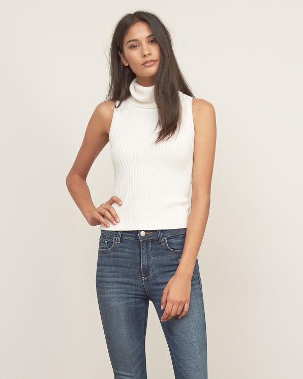 Ralph Lauren Raquel Womens Ribbed Sleeveless Turtleneck Sweater. Sold by BHFO. $ $ - $ Theory Wendel Womens Ribbed Knit Sleeveless Turtleneck Top. Sold by BHFO. $ - $ $ - $ BESTONE Plus Size Women Lace V-Neck Sleeveless .