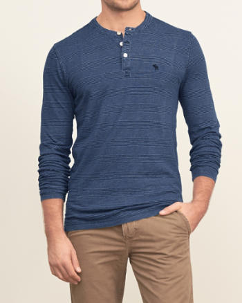Mens Iconic Stripe Henley