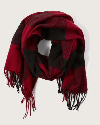 ANF Patterned Fringe Scarf