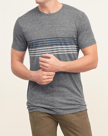 ANF Stripe Pocket Tee