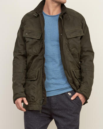 Mens Waxed Premium Utility Twill Jacket