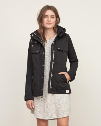 Womens A&F 2-in-1 Nylon Jacket