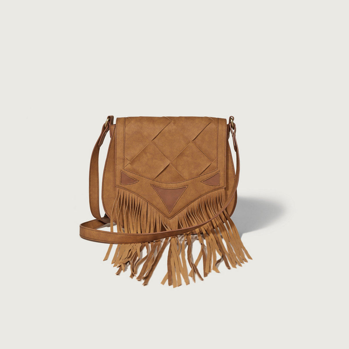 Faux Suede Fringe Purse