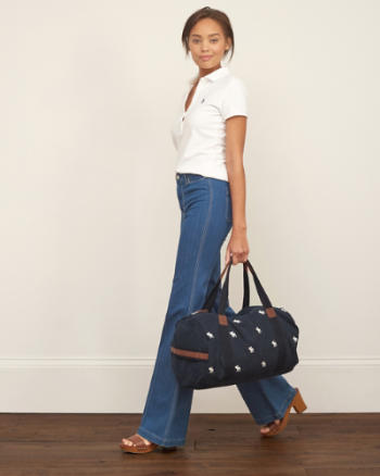 Womens Iconic Moose Duffel