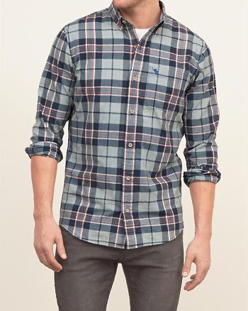 ANF A&F True Indigo Dye Shirt